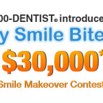 1-800-DENTIST My Smile Bites! $30,000 Makeover Contest.