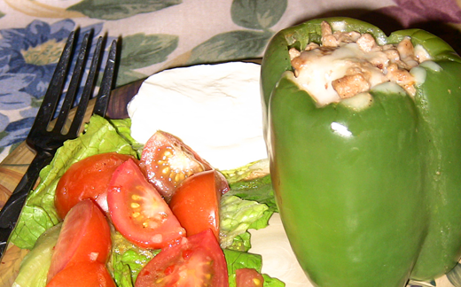Spicy Turkey Stuffed Peppers Recipe