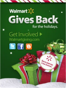 Walmart Gives Back Campaign