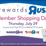"Toys ""R"" Us Rewards Members Only Shopping Day – FREE $15 GIFT CARD And More!"