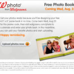 Walgreens  Free Photo Book!