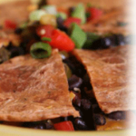 There's Always Time for a Quesadilla-Black Bean and Cheese Quesadilla Recipe