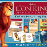 Father's Day With Mufasa & Simba-FREE Disney Activity Sheets!