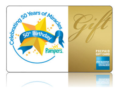 Pampers - gift card AMEX
