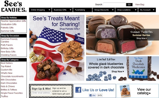 See's Candies Website
