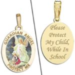 "Pictures On Gold Sterling Silver Guardian Angel ""School Protect"" Medal Review & Giveaway!"