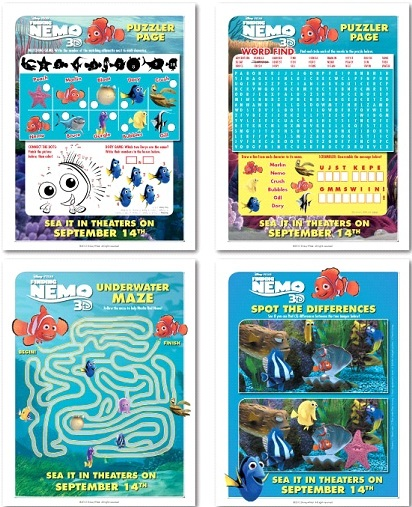 Finding Nemo 3D puzzles