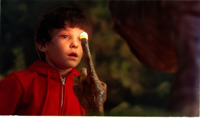 Henry Thomas and E.T., Glowing Finger