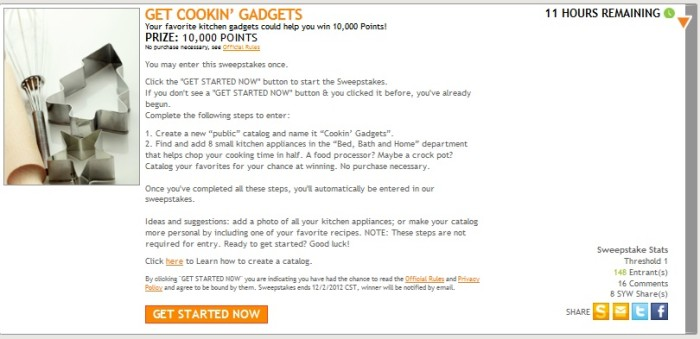 Get Cookin Gadgets Sweep