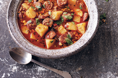 Spanish Potato, Garlic & Chorizo Soup Recipe!