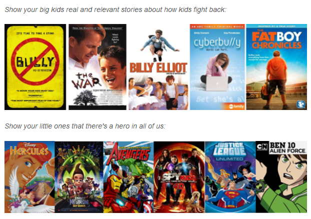 Netflix anti-bullying movies