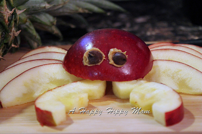 Apple Crab Food Art