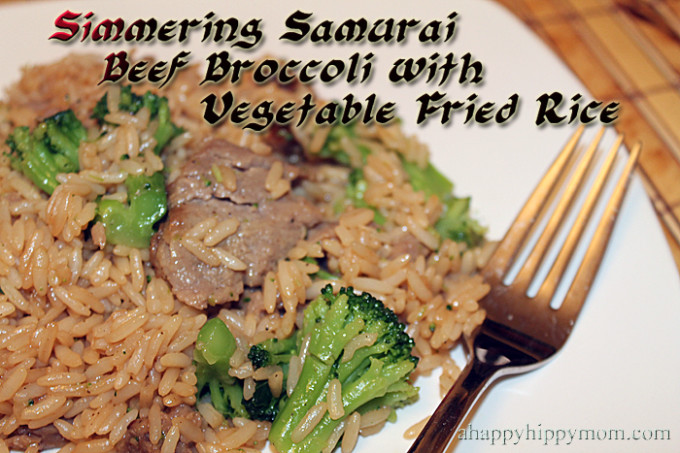 Beef Broccoli with Vegetable Fried Rice