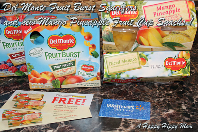Del Monte Fruit Burst Squeezers and fruit cups