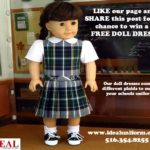 Win a FREE doll dress from Ideal Uniforms! Last Day To Enter!