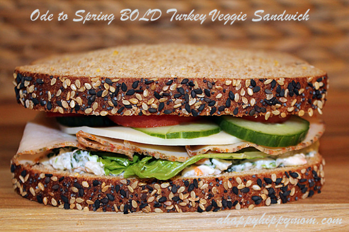 Ode to Spring BOLD Turkey Veggie Sandwich