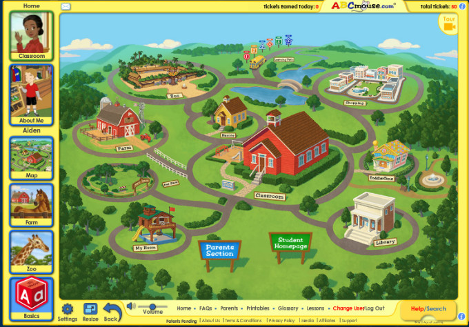 abcmouse map