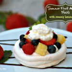 Summer Fruit Meringue Nests with Lemon Dressing &  Fruit Bowl Giveaway! #BBBProduct #freshfuitbowl