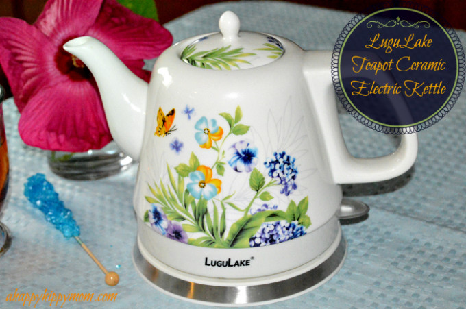 LuguLake teapot ceramic electric kettle