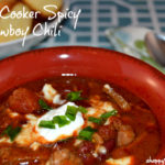 Hamilton Beach Slow Cooker Review, Spicy Cowboy Chili Recipe & Giveaway! #SlowCookerMeals