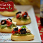 Talk of the Table – Holiday Entertaining with Winter Beers & Feta and Pesto Olive Crostini Appetizers #HolidayAdvantEdge