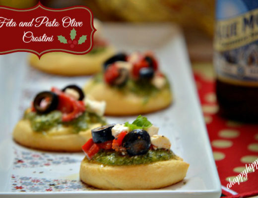 Feta-and-Pesto-Olive-Crostini #HolidayAdvantEdge #CollectiveBias