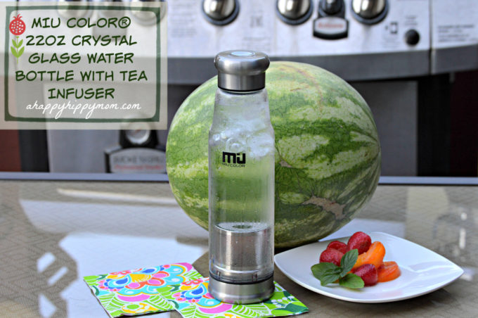 MIU COLOR glass water bottle with tea infuser