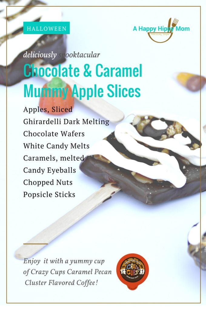 chocolate-caramel-mummy-apple-slices