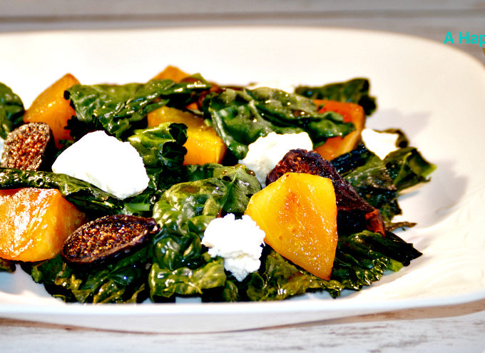 Roasted Kale and Beet Salad