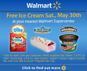 Free Ice Cream Day At Walmart