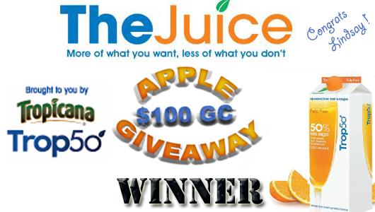 Apple $100 GC Winner
