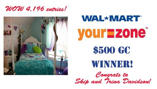 Walmart Giveaway Winner