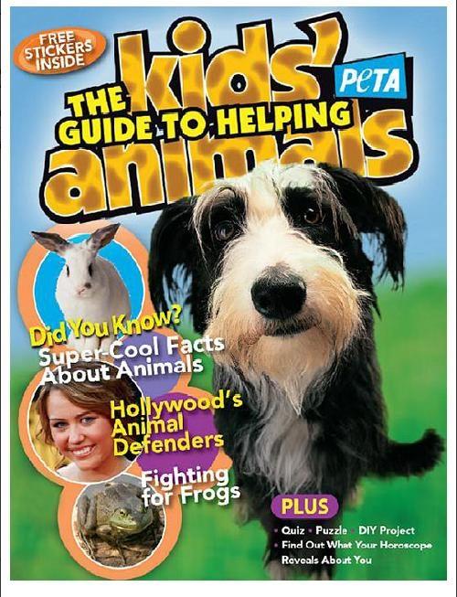 PETA's Free Kids' Guide to Helping Animals Magazine