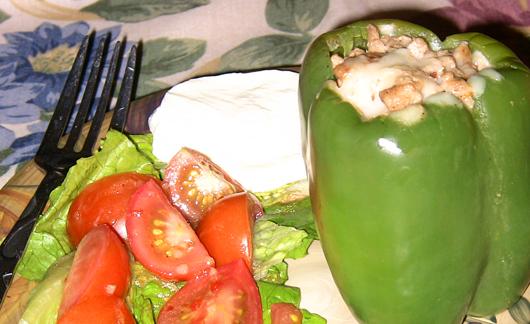 Spicy Turkey Stuffed Peppers Recipe