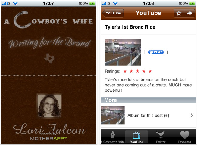 Mobilize Your Blog With MotherApp – iPhone App Of Your Blog