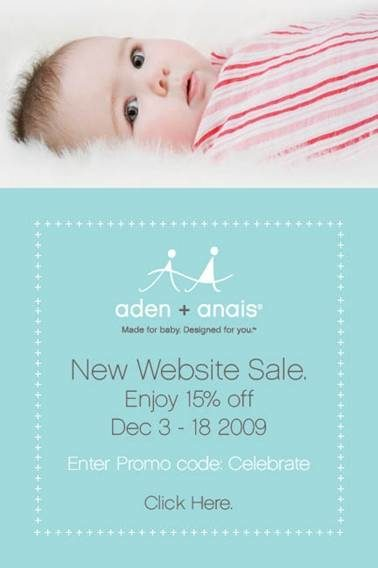 aden + anais Discount Announcement!