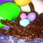 Speckled Egg Pretzel Nest