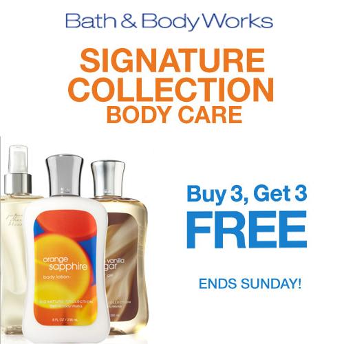 Bath & Body Works Buy 3 Get 3 Free Sale!