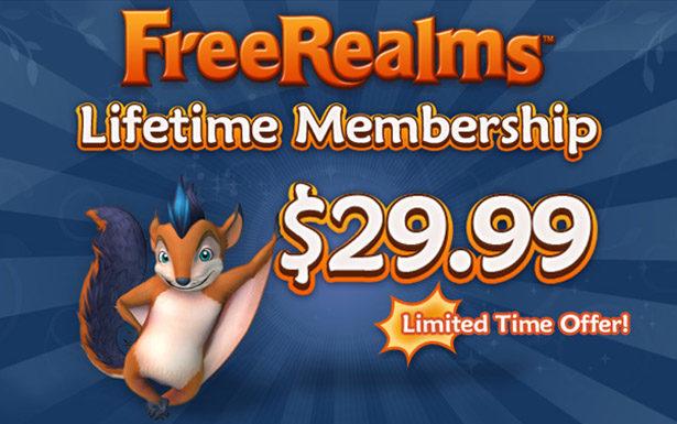 FreeRealms Lifetime Membership!