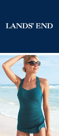 Lands' End 50% Off Swim Sale – Win One Of 40 $100 Gift Cards!