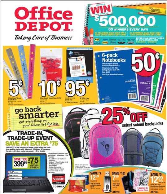 Monthly Specials direct to your email – Quick links to instant savings on featured items Coupon Central puts online and in-store savings at your fingertips Easy online ordering directly with Office Depot using your confidential Member Login.