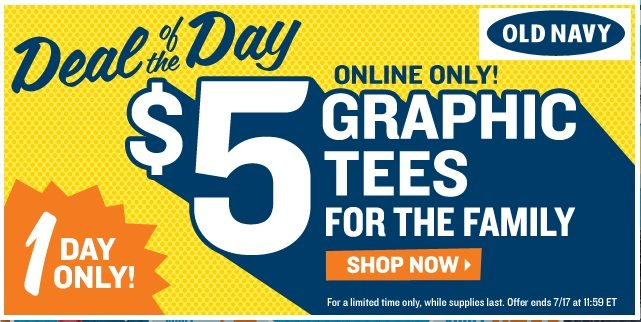 Old Navy Deal Of The Day-Today Only!