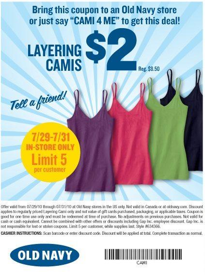 Old Navy $2 Secret Cami Sale Starts Today!