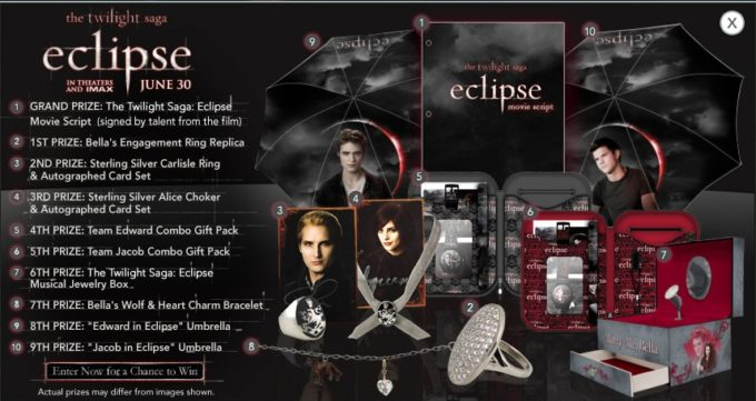 "Toys""R""Us & The Twilight Saga – Eclipse Ultimate Sweepstakes"