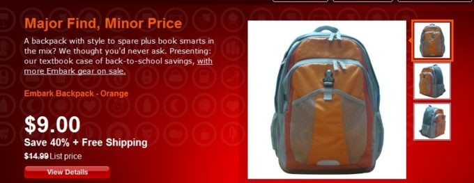 Target Daily Deals – %40 OFF Embark Backpack