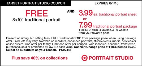 Free 8 X 10 Portrait at Target