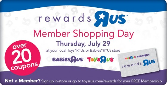 I signed up for the Toys R Us rewards program (Rewards R Us) a couple of years back because I have kids. Lots and lots of kids. Five, to be precise.