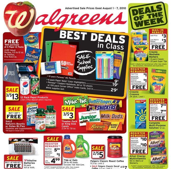 Walgreens Best Deals For Back To School 8/1-8/7