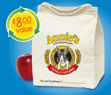 Free Annie's Reusable and Waste Free Lunch Sack!