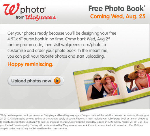 Walgreens  Free Photo Book!